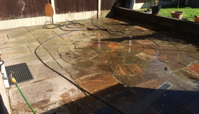 Witham services in cleaning patio